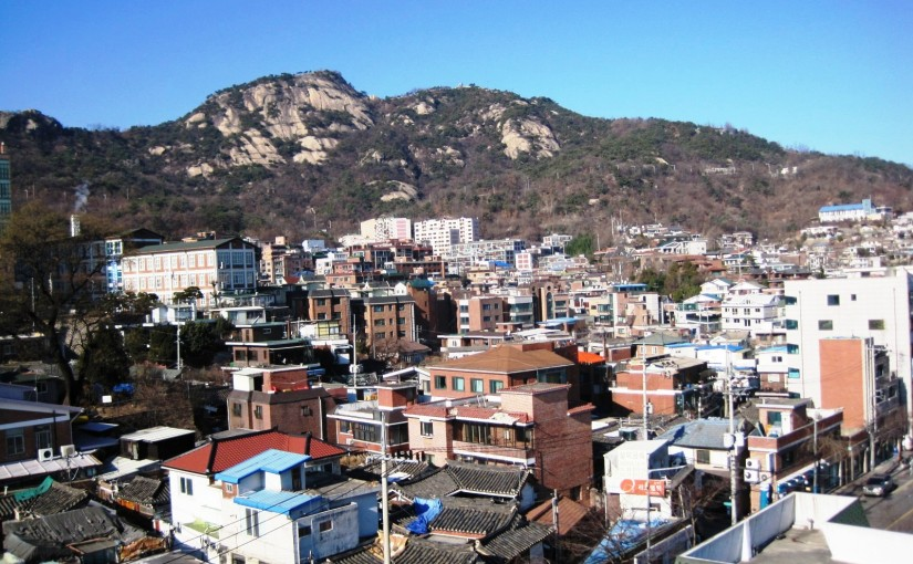 Seochon with Mt. Inwang in the background-Robert J. Fouser